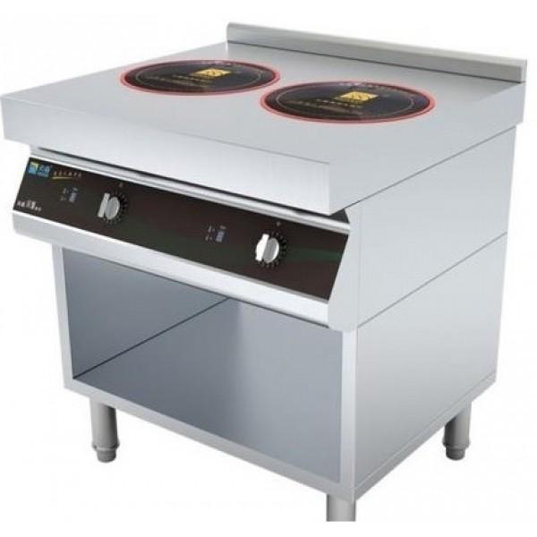 Commercial Induction Range Two Burner