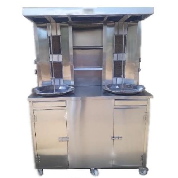 Shawarma Machine Doube Rod 4 Burners