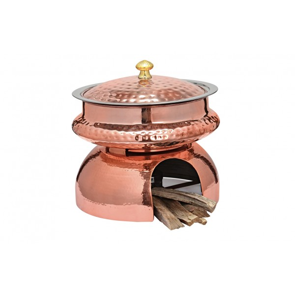 Copper Ss Chafing Dishes With Chowki Stand CKA-602