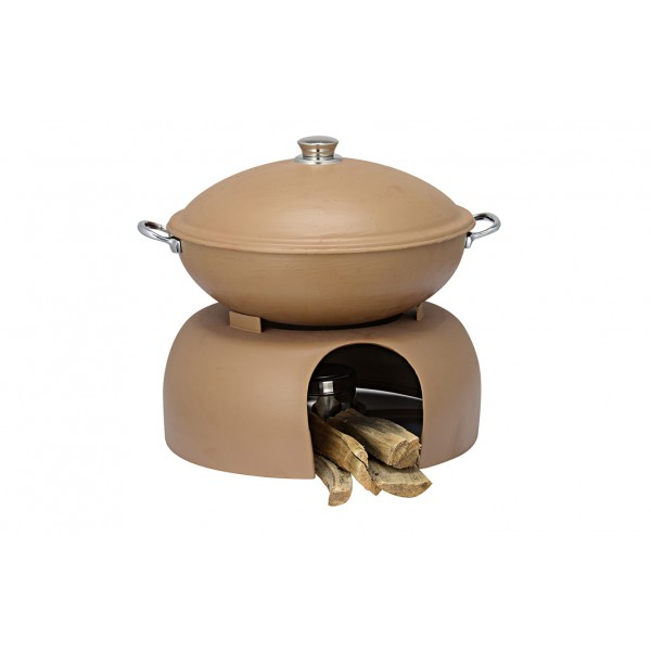 Copper Ss Chafing Dishes With Chowki Stand CKA-611