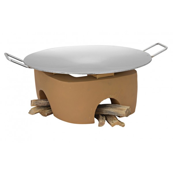 Copper Ss Chafing Dishes With Chowki Stand CKA-622