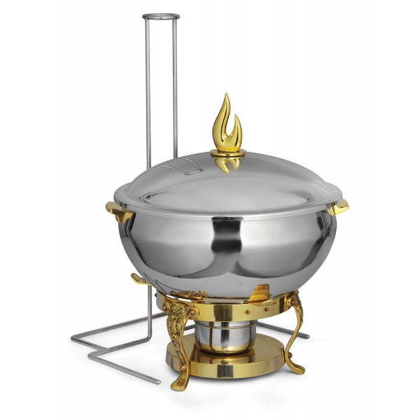 Lift Top Chafing Dishes With Wrought Iron Stand CK...