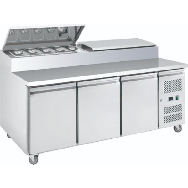 Pizza Preparation 610ltr Counter 3 Doors