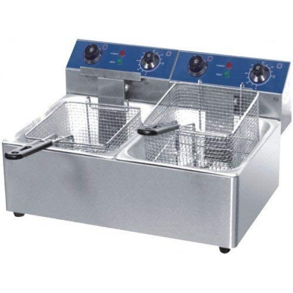 Deep Fryer 8ltr Electric Double Tank Indulge