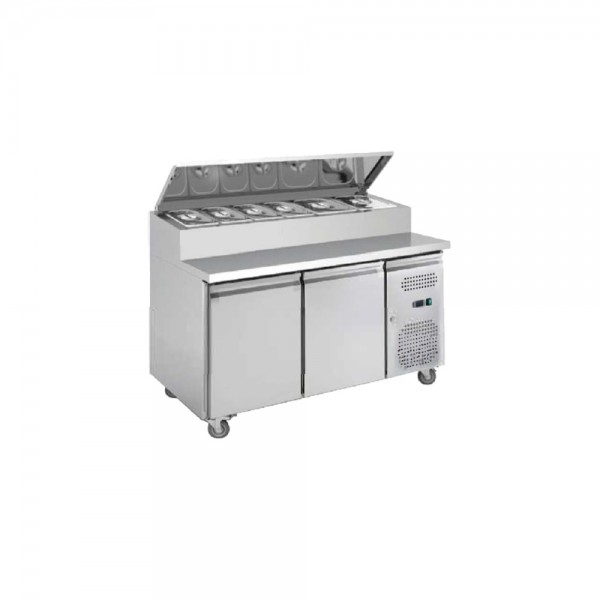 Pizza Preparation 390ltr Counter 2 Door