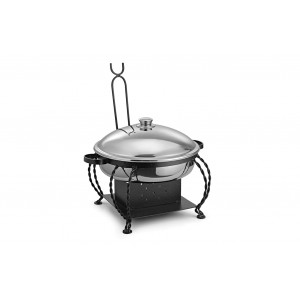 Lift Top Chafing Dishes With Wrought Iron Stand CKA-804