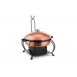 Lift Top Chafing Dishes With Wrought Iron Stand CKA-809