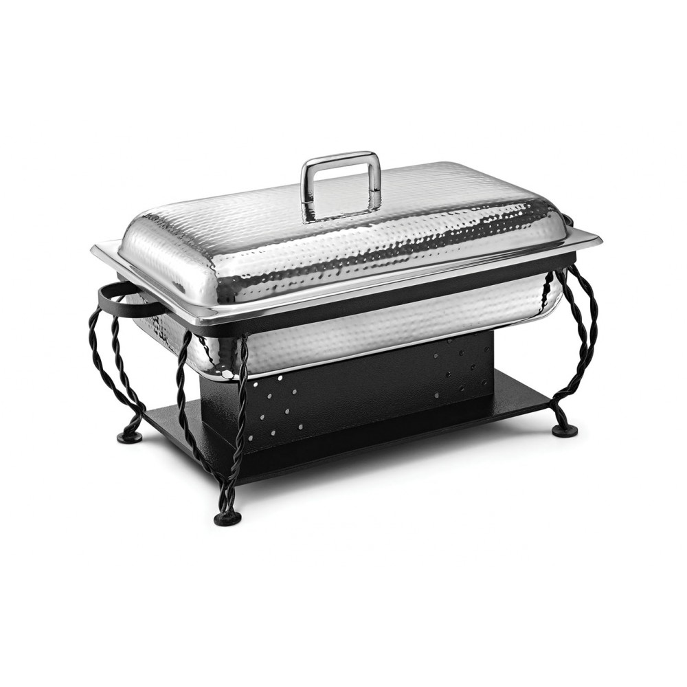 Lift Top Chafing Dishes With Wrought Iron Stand CKA-811
