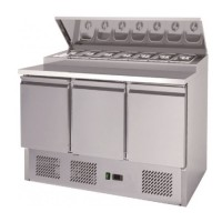 Pizza Preparation Counter 392Ltr 304 SS