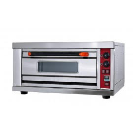 Commercial Gas Pizza Oven 1 Deck 2 Tray