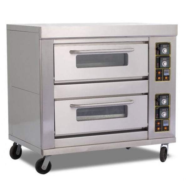 Pizza Oven 2 Deck 4 Tray Gas Oven