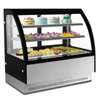Cake Display Counter Curved Glass 4 Inch 4 Layer