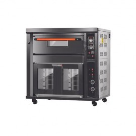 Commercial Gas Pizza Oven 1 Deck 2 Tray With Proofer