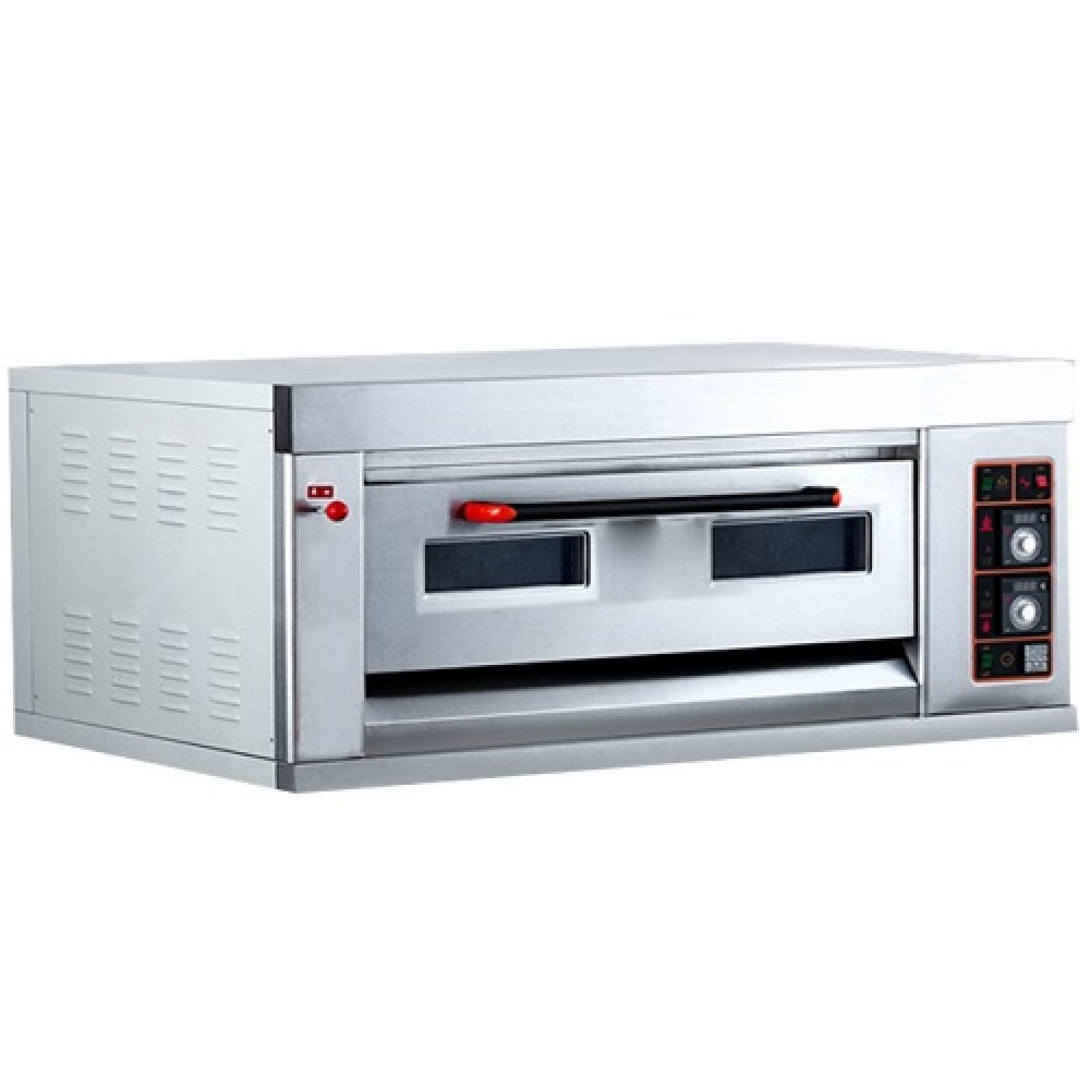 Commercial Gas Pizza Oven 1 Deck 4 Tray