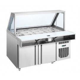 Salad Sandwich Counter With Hydraulic Hinges