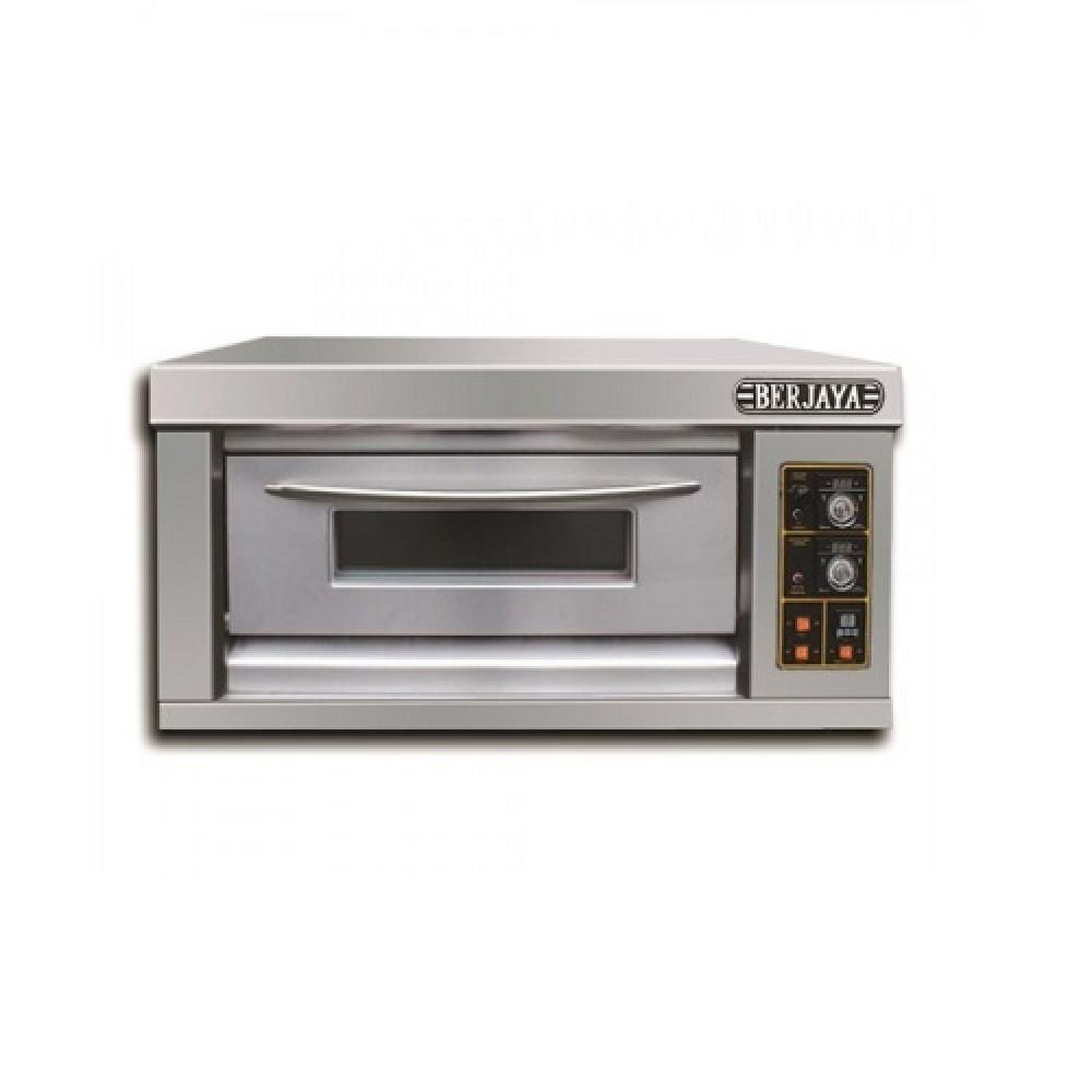 Commercial Gas Pizza Oven 1 Deck 2 Tray Berjaya
