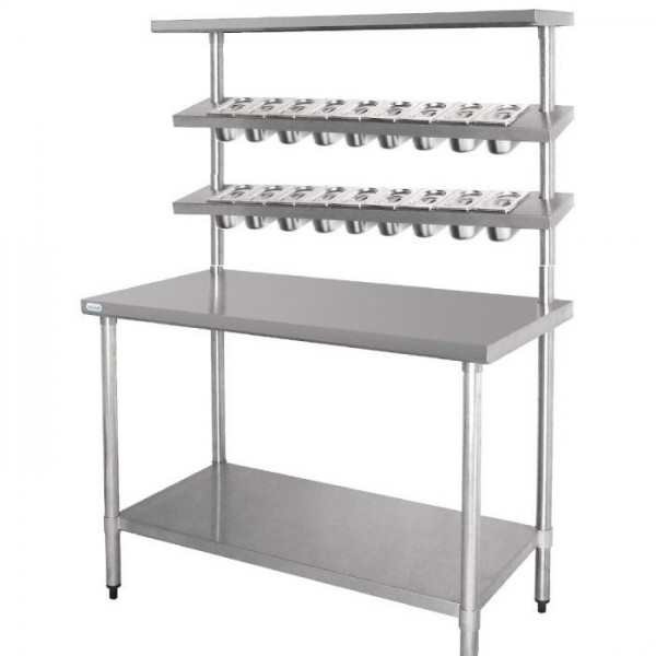 Food Preparation Table With Gn Pans Ss 304 4'x4'