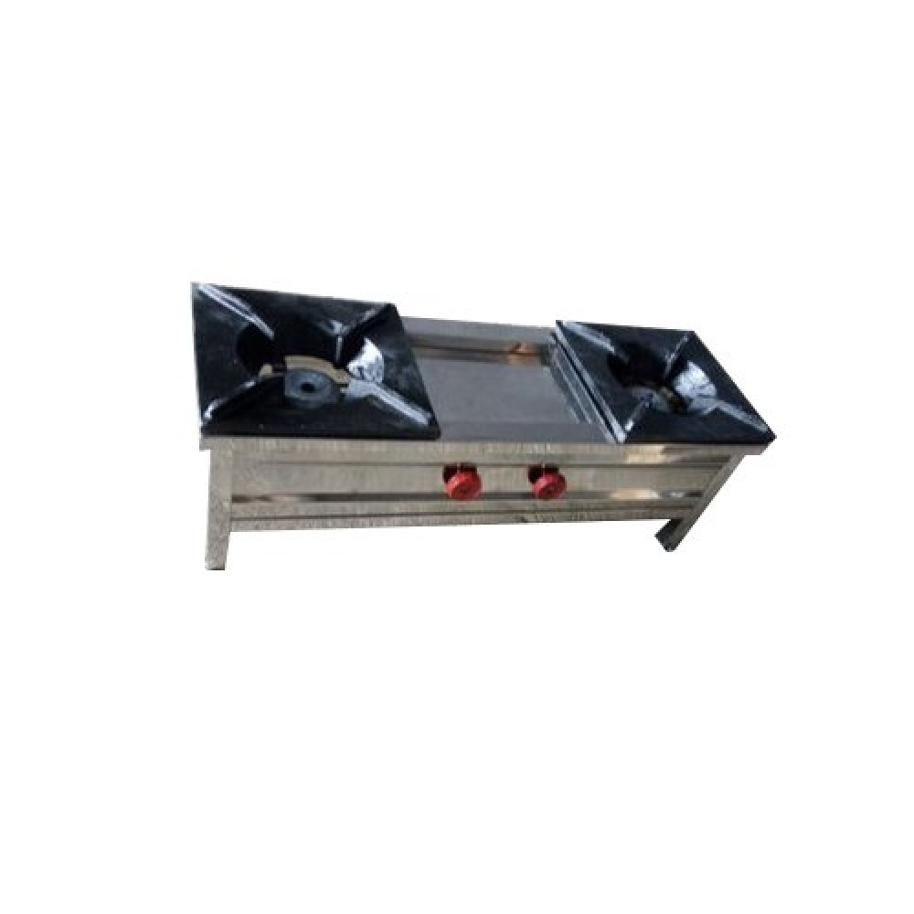 Commercial Gas Range Double Dome Table Top 10x30x10