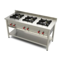 Commercial Gas Range Three Burner