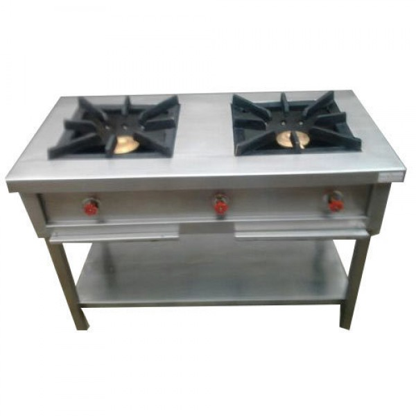 Double Burner Range Stainless Steel