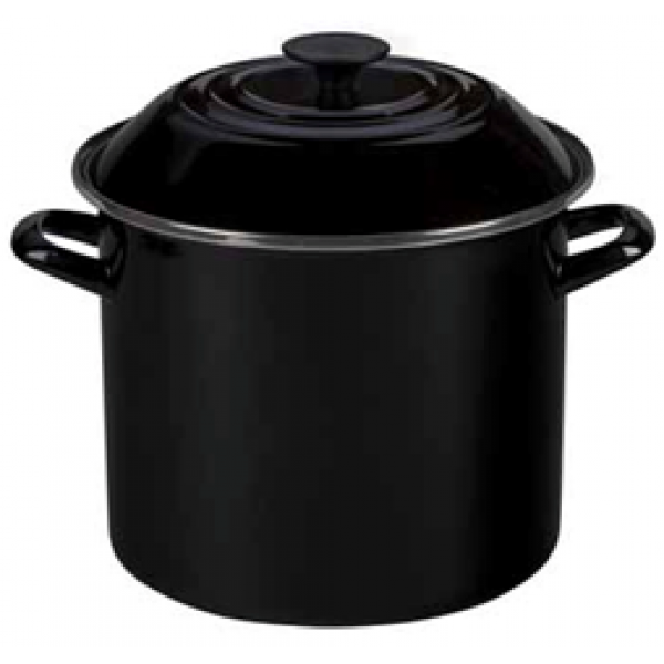 Soup Pot Black Cotted