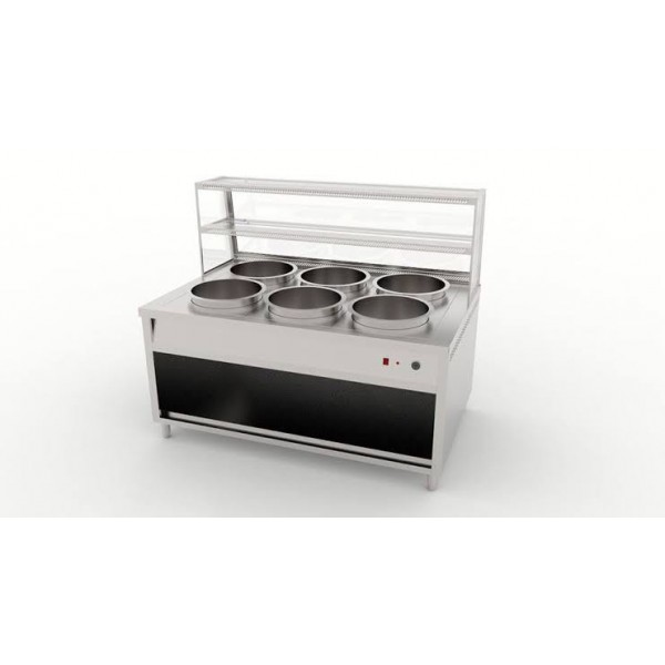 Bain Marie Counter 4 Bowl