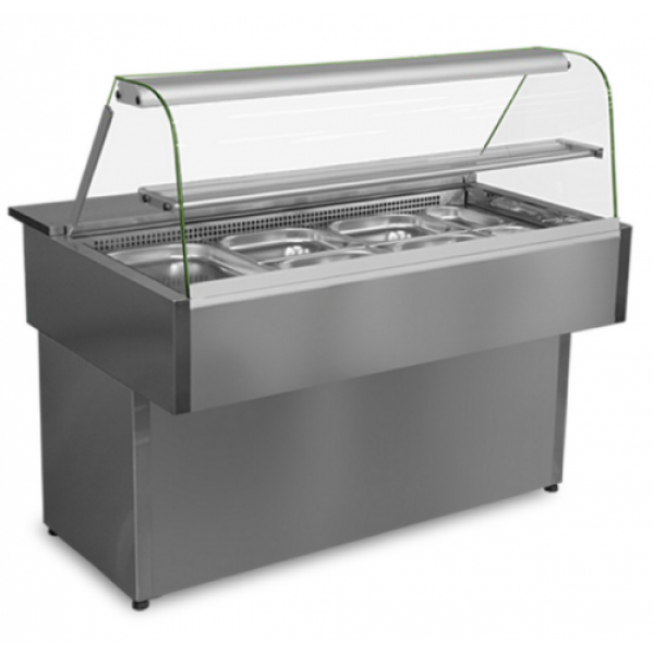 Bain Marie Counter With Glass 9 Bowl
