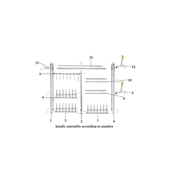 Utensil Rack Stainless Steel